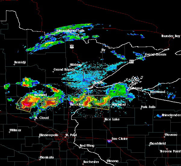 Radar Image for Severe Thunderstorms near Minong, WI at 7/19/2019 3:37 PM CDT