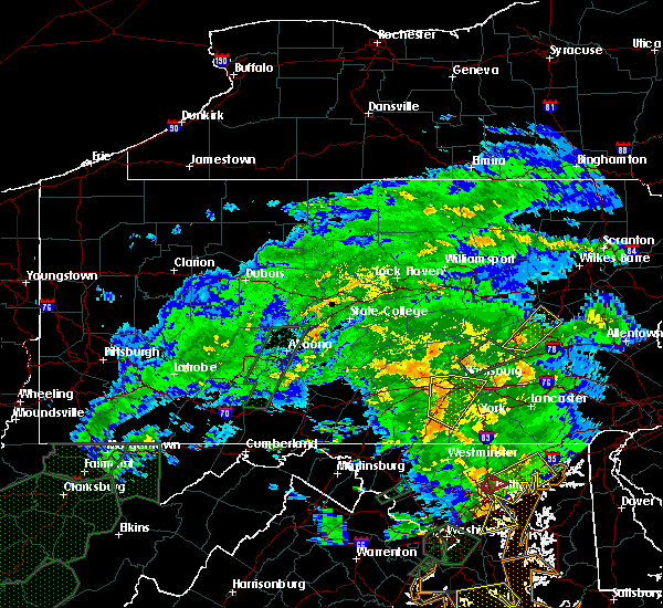 Radar Image for Severe Thunderstorms near Dover, PA at 6/20/2015 9:22 PM EDT