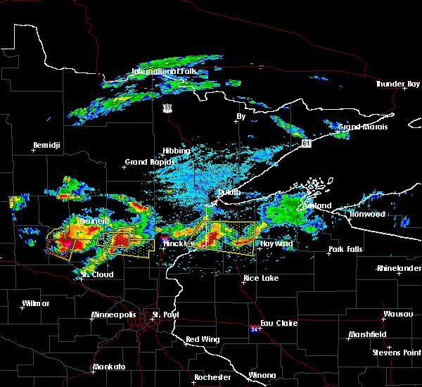 Radar Image for Severe Thunderstorms near Mora, MN at 7/19/2019 3:45 PM CDT
