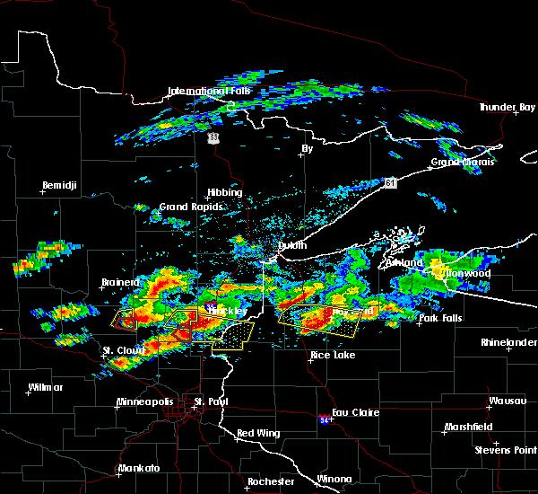 Radar Image for Severe Thunderstorms near Mora, MN at 7/19/2019 4:29 PM CDT