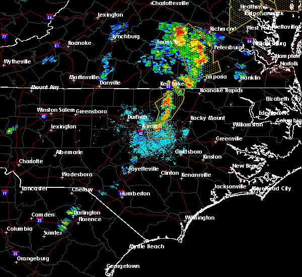 Radar Image for Severe Thunderstorms near Clayton, NC at 6/20/2015 9:25 PM EDT