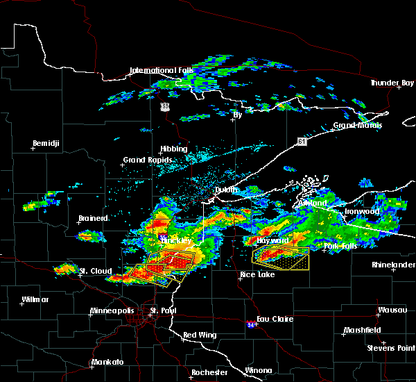 Radar Image for Severe Thunderstorms near Chief Lake, WI at 7/19/2019 5:00 PM CDT