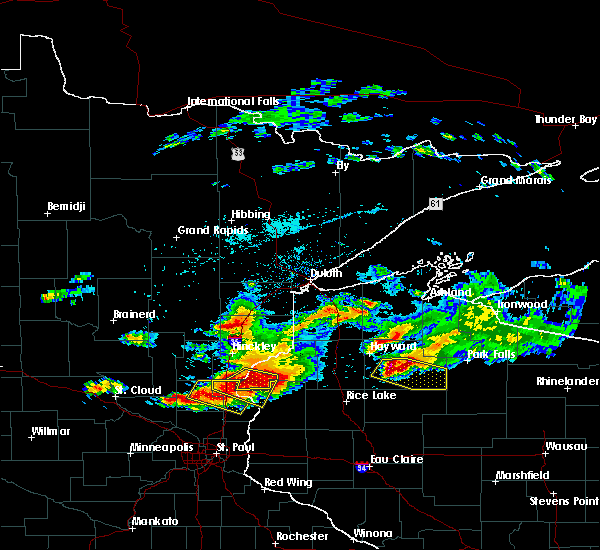 Radar Image for Severe Thunderstorms near Chief Lake, WI at 7/19/2019 5:05 PM CDT