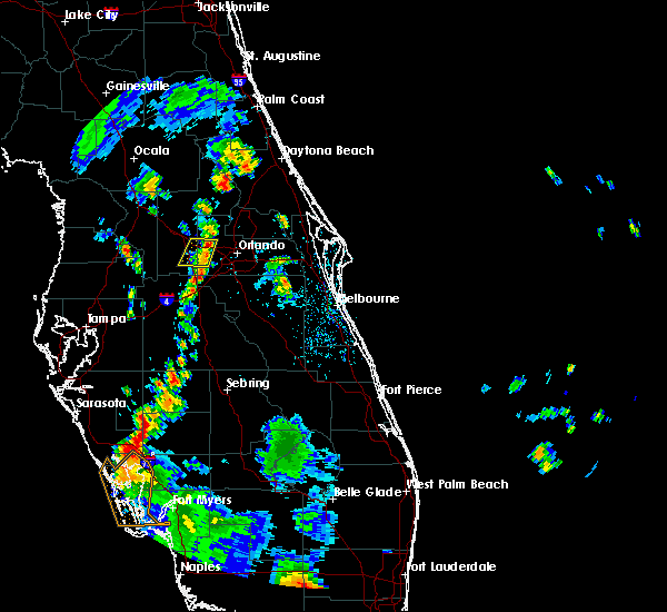 Radar Image for Severe Thunderstorms near Oakland, FL at 7/19/2019 6:09 PM EDT