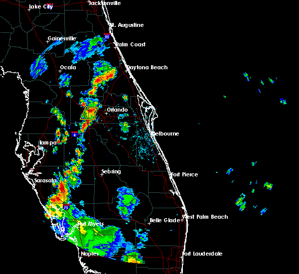 Radar Image for Severe Thunderstorms near Oakland, FL at 7/19/2019 6:25 PM EDT