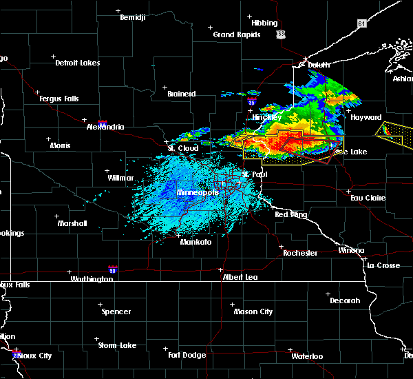 Radar Image for Severe Thunderstorms near Harris, MN at 7/19/2019 5:37 PM CDT