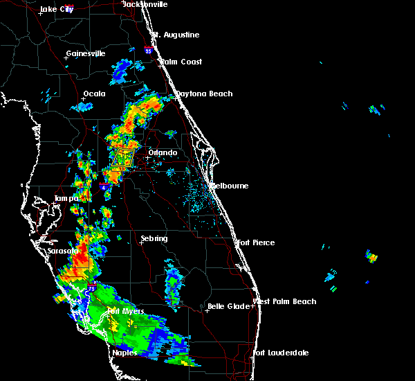 Radar Image for Severe Thunderstorms near Oakland, FL at 7/19/2019 6:40 PM EDT