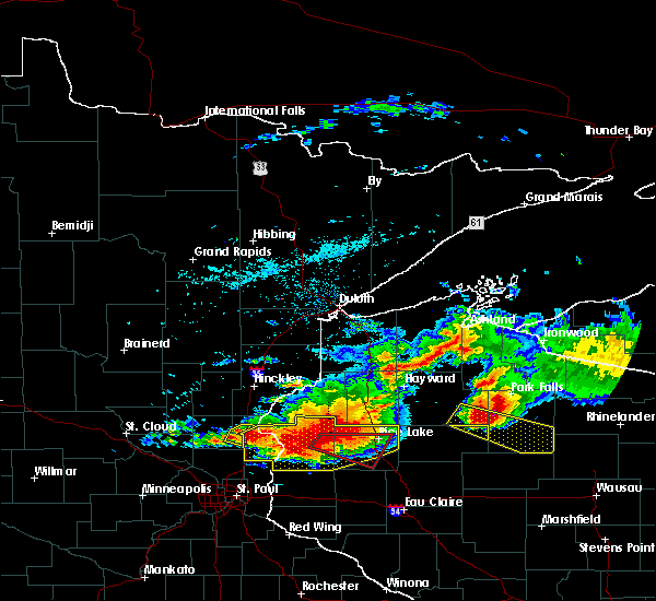 Radar Image for Severe Thunderstorms near Kennan, WI at 7/19/2019 5:46 PM CDT