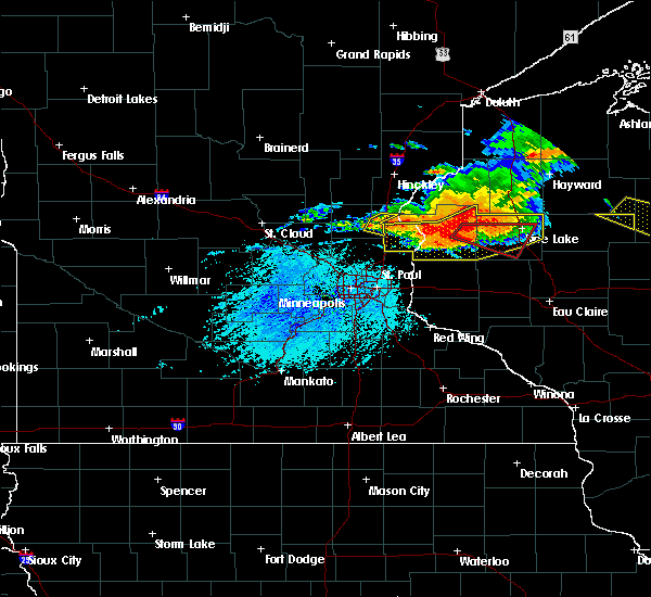Radar Image for Severe Thunderstorms near Barron, WI at 7/19/2019 5:45 PM CDT