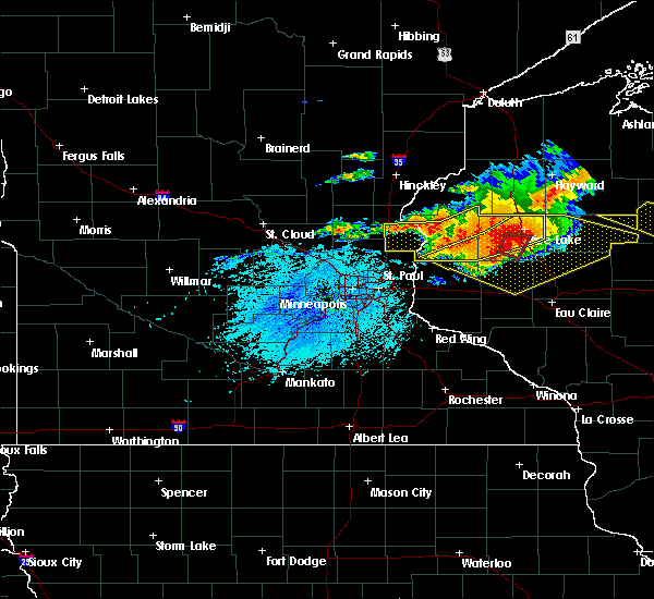 Radar Image for Severe Thunderstorms near Centuria, WI at 7/19/2019 6:03 PM CDT