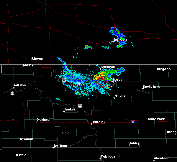 Radar Image for Severe Thunderstorms near Towner, ND at 6/20/2015 8:30 PM CDT