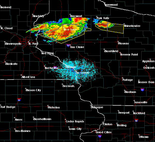 Radar Image for Severe Thunderstorms near Ogema, WI at 7/19/2019 6:25 PM CDT