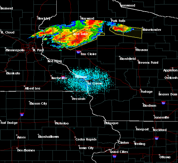 Radar Image for Severe Thunderstorms near Barron, WI at 7/19/2019 6:29 PM CDT