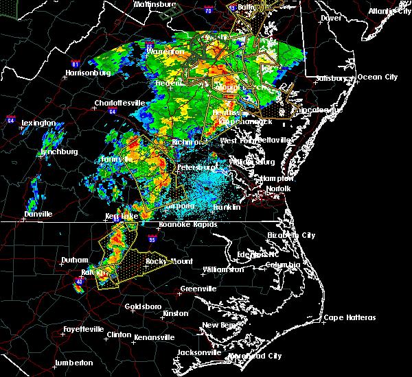 Radar Image for Severe Thunderstorms near Warsaw, VA at 6/20/2015 9:30 PM EDT