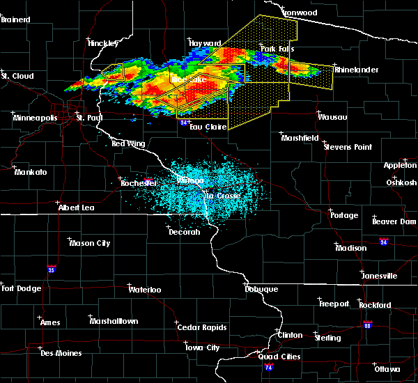 Radar Image for Severe Thunderstorms near Bloomer, WI at 7/19/2019 6:44 PM CDT
