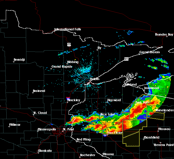Radar Image for Severe Thunderstorms near Kennan, WI at 7/19/2019 7:13 PM CDT