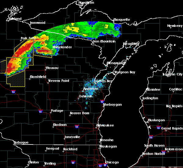 Radar Image for Severe Thunderstorms near Wisconsin Rapids, WI at 7/19/2019 7:20 PM CDT