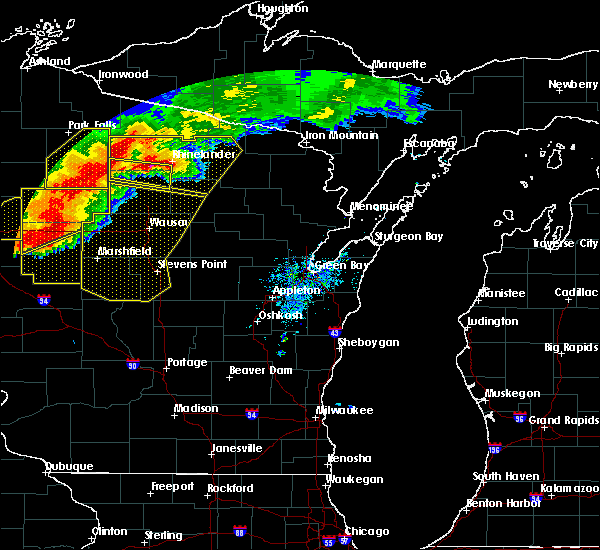 Radar Image for Severe Thunderstorms near Ogema, WI at 7/19/2019 7:33 PM CDT
