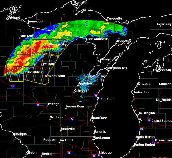 Radar Image for Severe Thunderstorms near Mosinee, WI at 7/19/2019 7:46 PM CDT