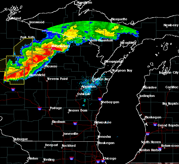 Radar Image for Severe Thunderstorms near Mosinee, WI at 7/19/2019 8:02 PM CDT