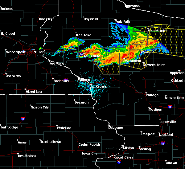 Radar Image for Severe Thunderstorms near Greenwood, WI at 7/19/2019 8:19 PM CDT