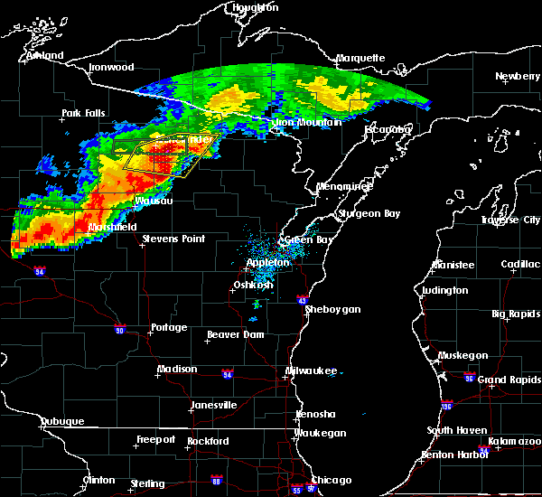 Radar Image for Severe Thunderstorms near Mosinee, WI at 7/19/2019 8:17 PM CDT