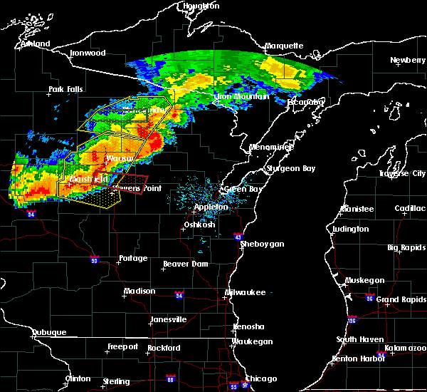 Radar Image for Severe Thunderstorms near Mosinee, WI at 7/19/2019 8:30 PM CDT
