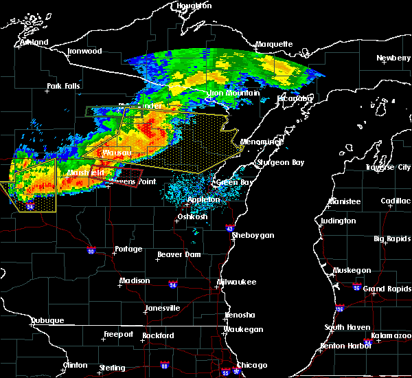 Radar Image for Severe Thunderstorms near Mosinee, WI at 7/19/2019 8:36 PM CDT