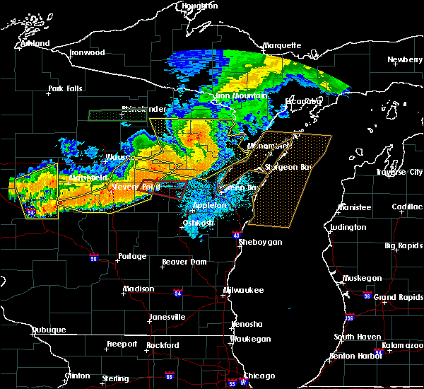 Radar Image for Severe Thunderstorms near King, WI at 7/19/2019 9:13 PM CDT