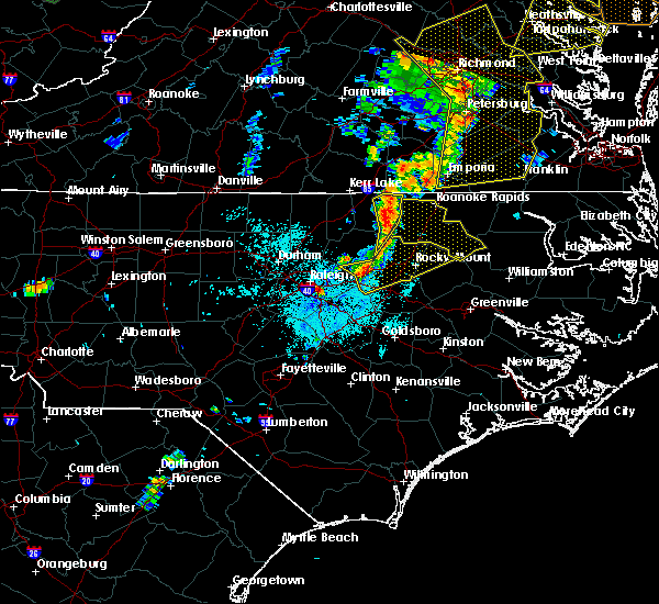 Radar Image for Severe Thunderstorms near Hollister, NC at 6/20/2015 9:39 PM EDT