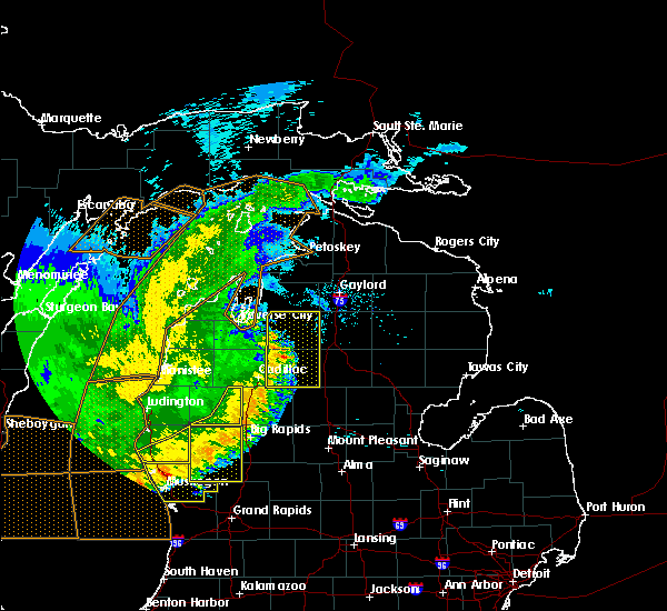 Radar Image for Severe Thunderstorms near South Boardman, MI at 7/20/2019 1:09 AM EDT
