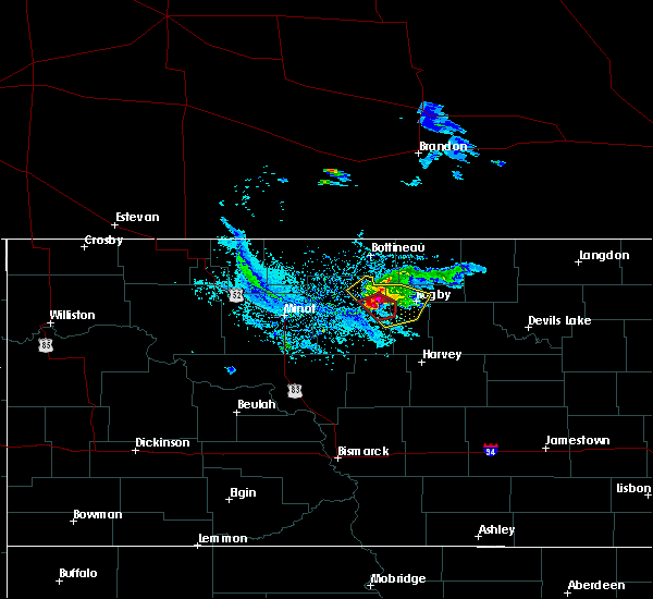 Radar Image for Severe Thunderstorms near Towner, ND at 6/20/2015 8:42 PM CDT