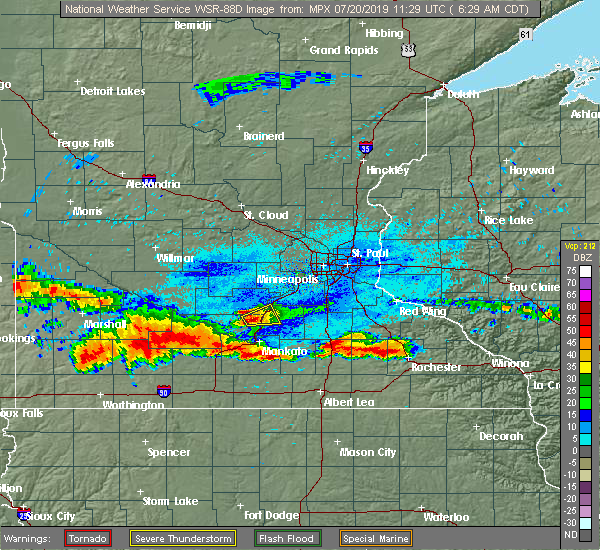 Radar Image for Severe Thunderstorms near Le Sueur, MN at 7/20/2019 6:35 AM CDT