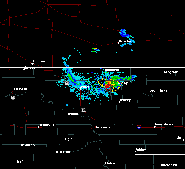 Radar Image for Severe Thunderstorms near Towner, ND at 6/20/2015 8:49 PM CDT