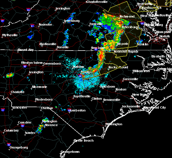 Radar Image for Severe Thunderstorms near Nashville, NC at 6/20/2015 9:52 PM EDT