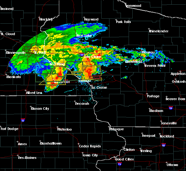 Radar Image for Severe Thunderstorms near Arcadia, WI at 7/20/2019 9:09 AM CDT