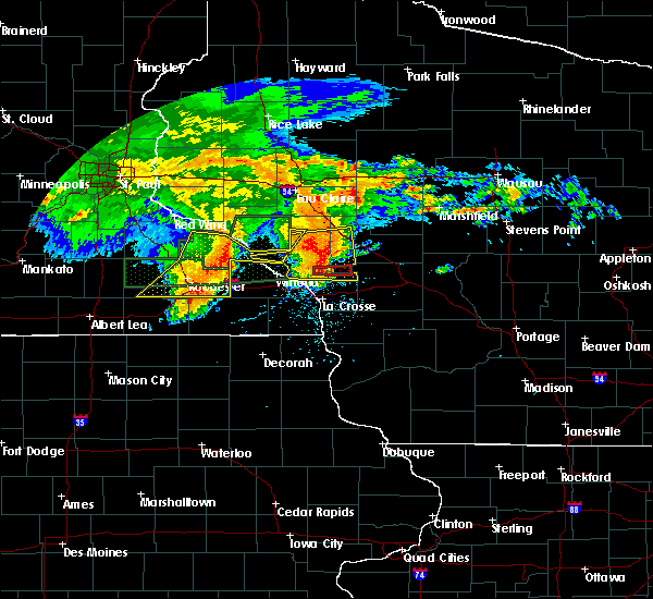 Radar Image for Severe Thunderstorms near Elgin, MN at 7/20/2019 9:17 AM CDT