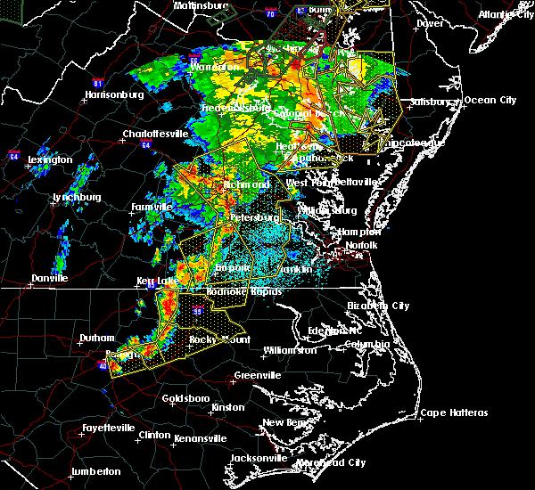 Radar Image for Severe Thunderstorms near Heathsville, VA at 6/20/2015 9:53 PM EDT