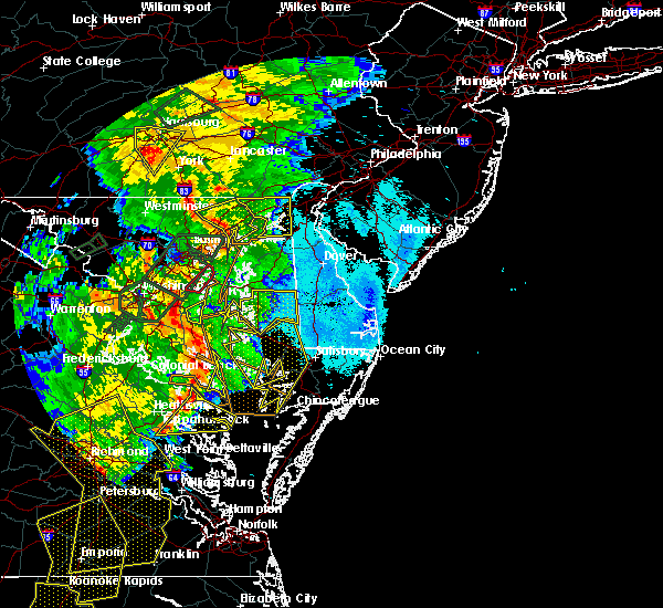 Radar Image for Severe Thunderstorms near Preston, MD at 6/20/2015 9:56 PM EDT