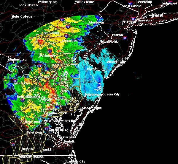 Radar Image for Severe Thunderstorms near Lexington Park, MD at 6/20/2015 9:55 PM EDT