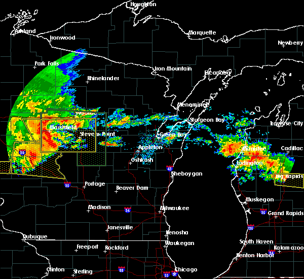 Radar Image for Severe Thunderstorms near Mosinee, WI at 7/20/2019 10:20 AM CDT