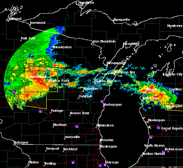Radar Image for Severe Thunderstorms near Mosinee, WI at 7/20/2019 10:37 AM CDT