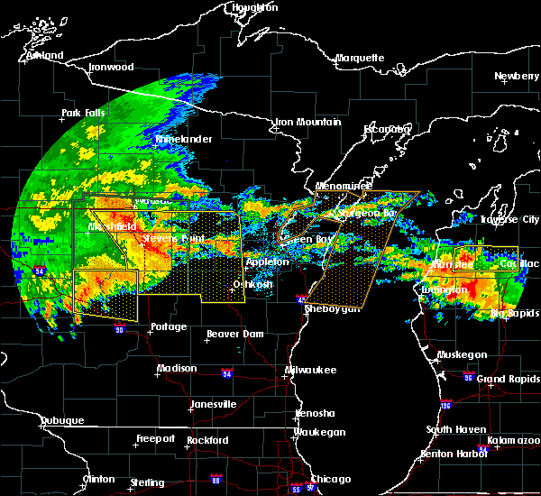 Radar Image for Severe Thunderstorms near King, WI at 7/20/2019 10:49 AM CDT