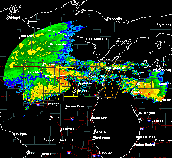 Radar Image for Severe Thunderstorms near King, WI at 7/20/2019 11:15 AM CDT