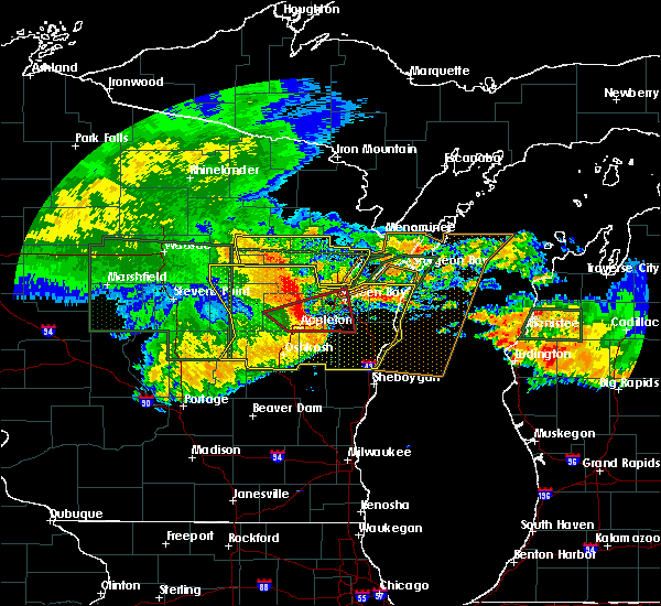 Radar Image for Severe Thunderstorms near Abrams, WI at 7/20/2019 11:38 AM CDT