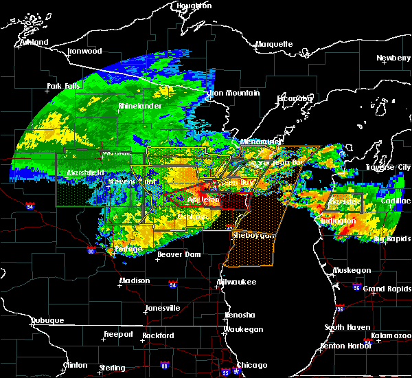 Radar Image for Severe Thunderstorms near Abrams, WI at 7/20/2019 11:56 AM CDT