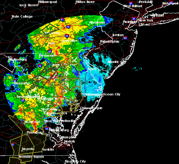 Radar Image for Severe Thunderstorms near Chestertown, MD at 6/20/2015 10:00 PM EDT
