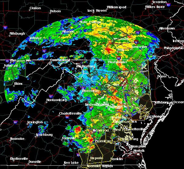 Radar Image for Severe Thunderstorms near Owings, MD at 6/20/2015 10:10 PM EDT