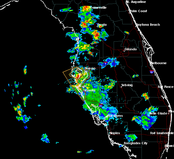 Radar Image for Severe Thunderstorms near Tampa, FL at 7/20/2019 6:09 PM EDT
