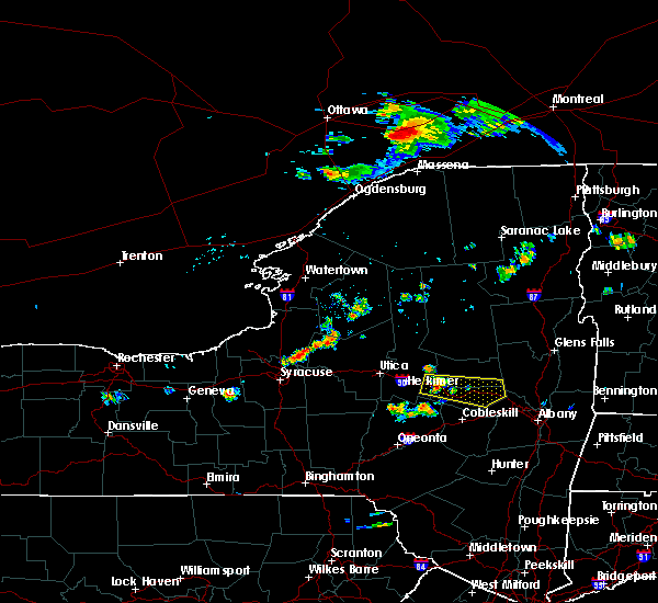 Radar Image for Severe Thunderstorms near Verona, NY at 7/20/2019 6:09 PM EDT